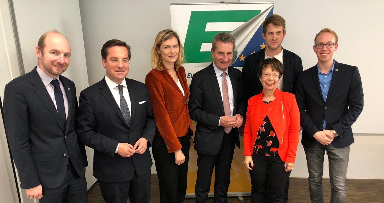 Vortrag mit Kommissar Günther H. Oettinger am 17.10.19 in Stuttgart bei Südwestmetall